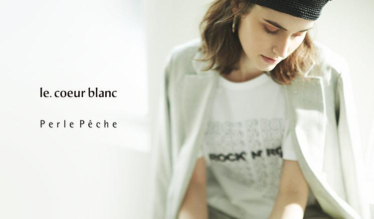 LE COEUR BLANC / PERLE PECHE -MAX79%OFF-