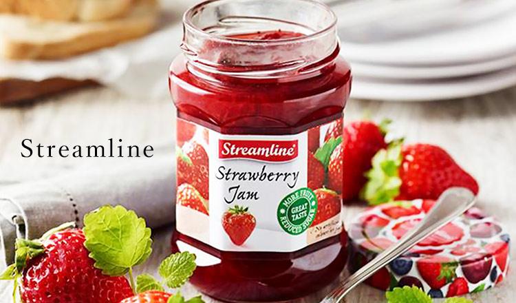 Streamline-砂糖・着色料・保存料不使用の低糖度ジャム-