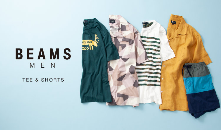 BEAMS MEN : Tee & Shorts