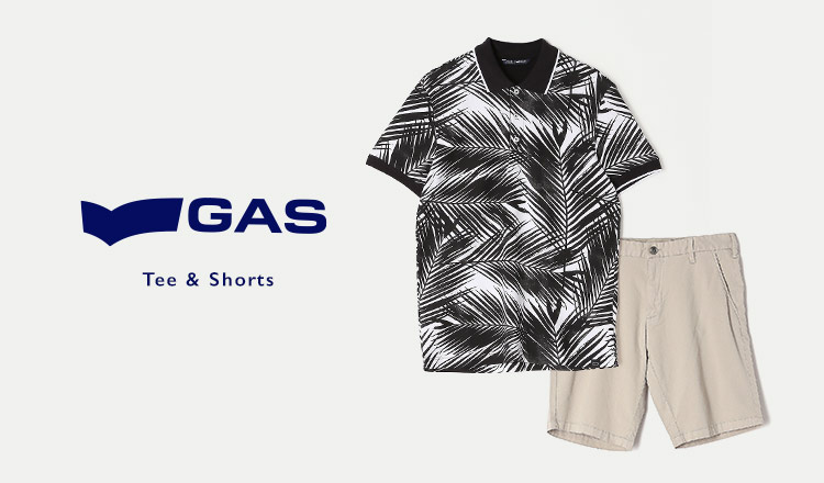 GAS MEN : Tee&Shorts