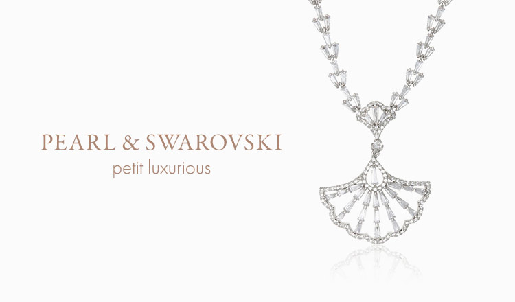 PEARL & SWAROVSKI JEWELRY -petit luxurious selection-