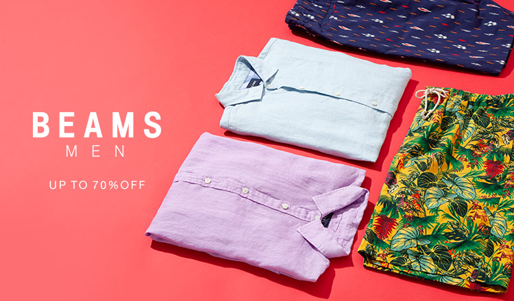 BEAMS MEN:Up to 70%OFF