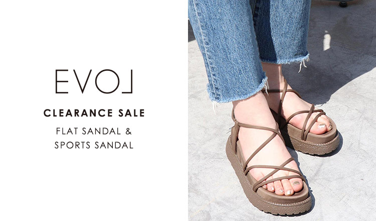 EVOL CLEARANCE SALE -FLAT SANDAL & SPORTS SANDAL-